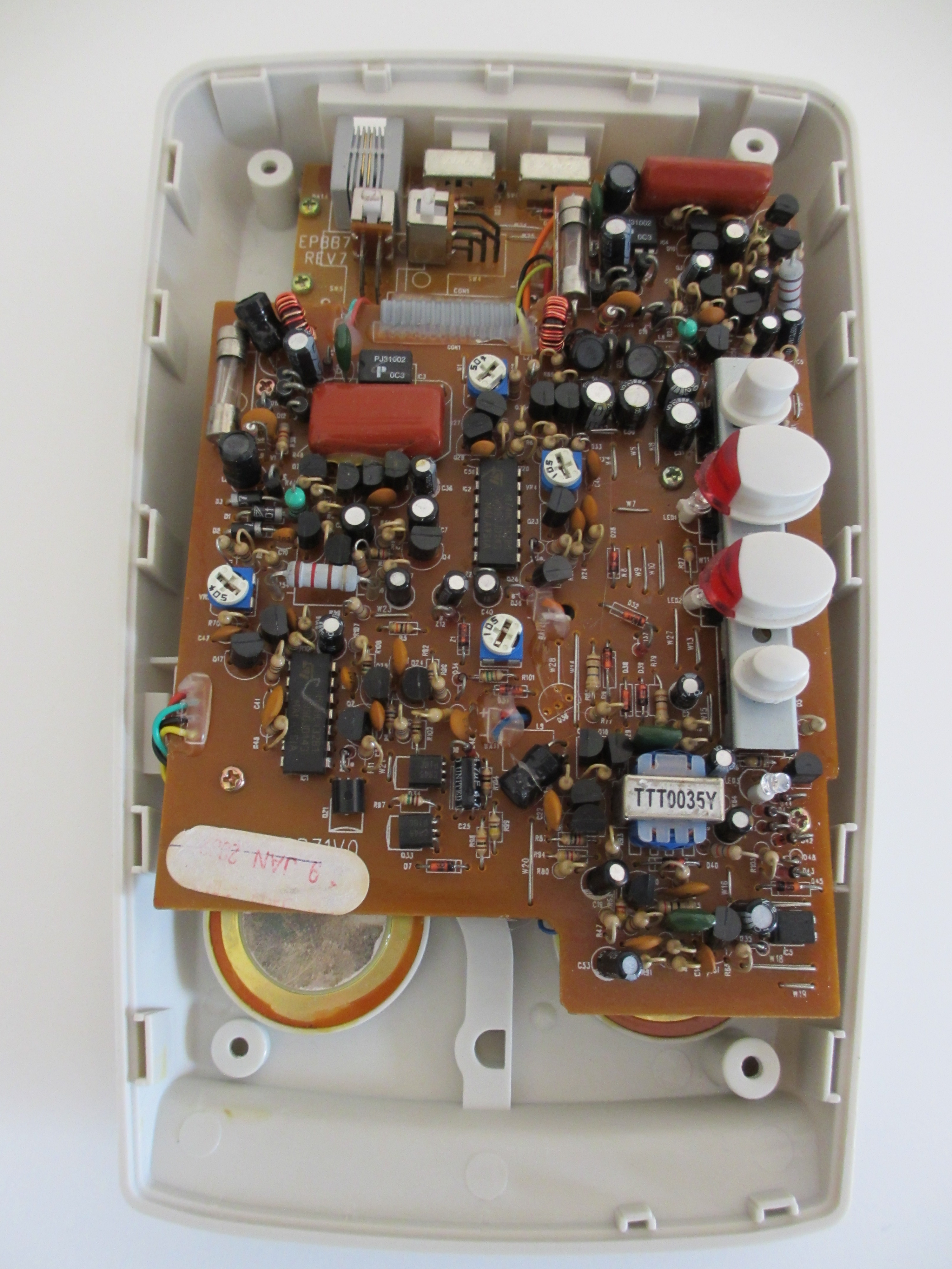 Inside a landline phone